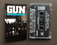 GUN - Taking On The World Cassette Tape 1989 VG+ With Lyrics Hard Rock