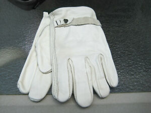 VERY GOOD QUALITY PIG SKIN LEATHER GLOVES IN VERY GOOD CONDITION MEDIUM