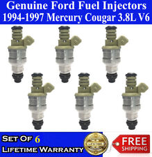 6 Genuine FORD Fuel Injectors For 1994-1995-1996-1997 Mercury Cougar 3.8L V6