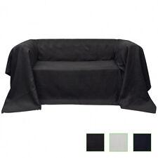 Tagesdecke Plaid Überwurf Sofa Bett Sesseldecke Wildlederoptik mehrere Auswahl