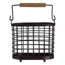 Vertex Oval Bronze Utensil Holder Kitchen Cutlery Storage Draining Stand Rack