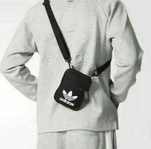 New Satchel Messenger Cross Body Bags For Men & Women Shoulder Sports BLACK UK