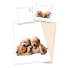 Süße Hunde Kinder Bettwäsche von Herding 135x200 + 80x80 Geschenk statt 29,95€