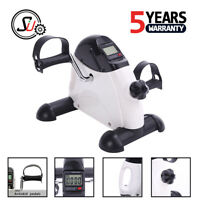Portable Mini Pedal Exerciser Fitness Exercise Bike Cycle LCD Arm Leg Under Desk