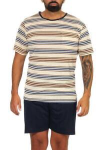 Men's Summer Pajamas Shorts & T-Shirt Schlaf-Anzug Night Gown Size M L XL 2XL