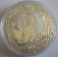 China 10 Yuan 2002 Panda 1 Oz Silber