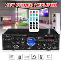 500W 110V/12V bluetooth Stereo Subwoofer Amplifier Home Car 2CH AUX FM USB SD