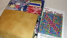 "DOUBLE DELIGHT Quilt Kit Featuring Kona Bay Fabrics 70x82"""