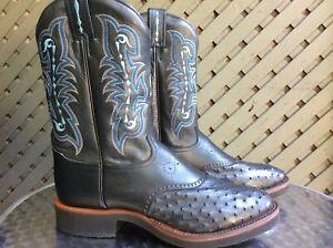 tony lama ostrich cowboy boots size 12 d