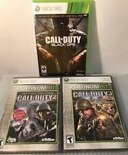 Call Of Duty Xbox Lot Call Of Duty, Call Of Duty 2, Call If Duty 3 All Manuals