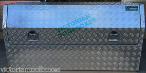 Aluminium Toolbox 140x60x82cm Half Recessed Door Open Ute Trailer Truck tool box