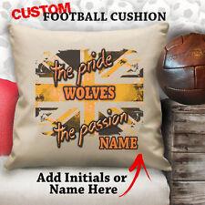 Personalizado Wolverhampton Lobos Fútbol Cojín A Medida Tapa Lona Regalo