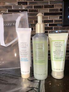White Tea & Citrus Mary Kay Satin Hands Pampering Set of 3 Cream Scrub Softener