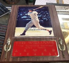 Ted Williams Signed 12x16 Custom Plaque Display (Gallen Sports COA)
