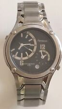 Armitron Mens Designer Duel Time Date Black Dial Excellent Working Quartz Watch
