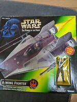 STAR WARS POTF  A-WING FIGHTER w/Pilot NEW IN BOX.  BOX DAMAGE