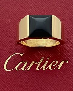 AUTHENTIC CARTIER MENS  RING 18K YG, 23.7 GR,  BOX, PAPERS, APPR. RET USD $7,000