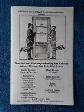 The Producers - EPAC Theatre Playbill - July 2009 - Edward R. Fernandez