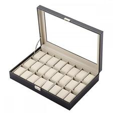 Watch Box Leather Display Case Jewelry Collection Organizer Storage Holder 2405