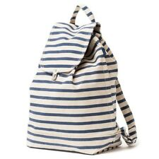 BAGGU CLASSIC BACKPACK LARGE RECYCLED CANVAS SHOPPING COLLEGE GYM SAILOR STRIPE