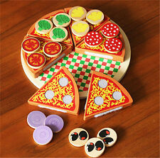 Wooden Pizza Play Food Set Wooden Toy Kids Pretend Kitchen Childrens Cooking GN
