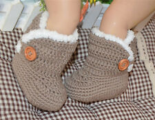 5 colours! Newborn Baby girl boy Crochet Knit ugg-ly Boots Shoes size 0/1/2/3