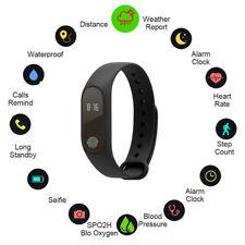 Waterproof Touch Screen Smart Watch Pedometer Health Tracker Bracelet Black
