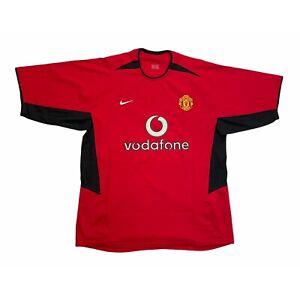 🔥Original Manchester United 2002/04 Home Football Shirt Nike - Size L🔥