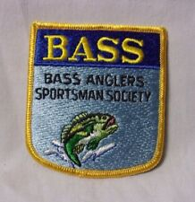 Bass Anglers Sportsman Society Vintage Fishing Patch T*