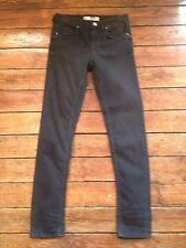 "topshop moto baxter skinny jeans ""washed black"" damen sz 6 w25 bein 34 gg2"