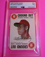Orlando Cepeda 1968 Topps Game PSA 7 NM Graded Card St. Louis Cardinals HOF #32