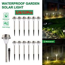 LED Solar Pathway Lights Outdoor Garden Landscape Walkway Lawn Yard Path Lamp