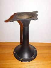 Antique Cast Iron Base Table Chair Industrial Age