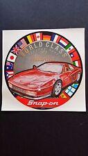 "Vintage Snap On Tools ""World Class Series '89 Ferrari Testarossa"" decal  NEW NOS"