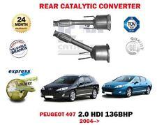 FOR PEUGEOT 407 2.0 HDI 136BHP 2004 > NEW CATALYTIC CAT CONVERTER KIT