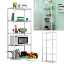 Metal Shelving Unit 5 Tier Gargage Warehouse Shelf Display Kitchen Storage Rack