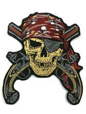 Large Back Patch l Pirate Skull & Guns