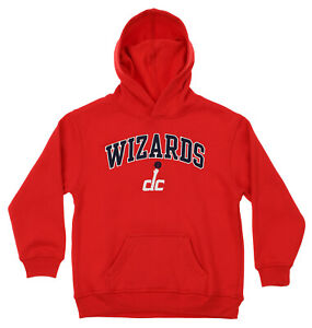 OuterStuff NBA Youth Washington Wizards Fleece Pullover Hoodie, Red