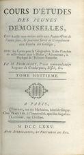 Cours d'études des Jeunes Demoiselles/Abbé Fromageot/Tome 8/Histoire/1775