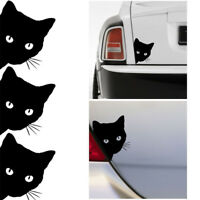Funny Cat Face Peering Car Decal Window Truck Auto Bumper Laptop Sticker Black