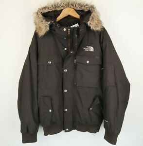The North Face Mens Goose down Hyvent padded Jacket Brown SZ Medium (G841)