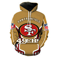 San Francisco 49ers Football Hoodies 3D Printed Sweatshirts Pullover Jacket Coat