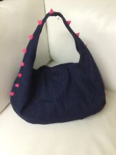 NWT Deux Lux Indigo Studded Empire City Hobo Ladies Bag DL612-454