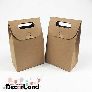 10pcs Kraft Paper Party Bag/ Loot Bag/ Favour Box/ Party Gift Bag