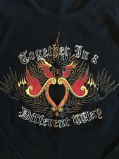 """RG512 Men's 100% Cotton Black/Graphic """"Together in a different way"""" Tshirt XXL"""