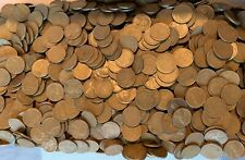Lot of 100 UNSEARCHED Copper WHEAT PENNIES PDS - Two Rolls 1950 to 1958