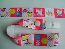 A BEAUTIFUL GIRLS HELLO KITTY DUMMY CLIP/PACIFIER/TOY CLIP (NEW)