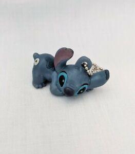 lilo and stitch blue alien mini figure keyring 35mm tall ball chain NEW