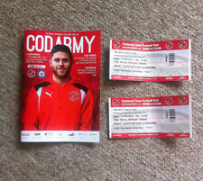Away Teams Rochdale Football Programmes with Match Ticket