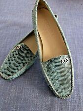 Escada Sport Loafers Reptilleder türkis Größe 37,5  nicht getragen